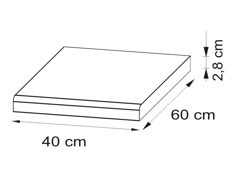 Pracovná doska 40 cm - BRW - Nika - BLAT/40
